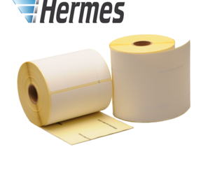 Zebra compatible Hermes shipping labels, 102mm x 210mm, 210 labels, 25mm core, white, permanent
