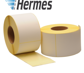 Zebra compatible Hermes shipping labels, 102mm x 210mm, 640 labels, 76mm core, white, permanent