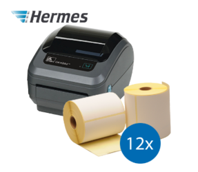 Hermes Starter Package | Zebra GK420D + 12 label rolls, 102mm x 210mm