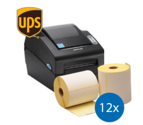 UPS Starter Package | Bixolon SLP-DX420EG Ethernet Printer + 12 Label Rolls 102mm x 150mm