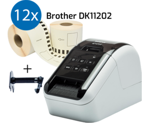 Impresora Brother QL810W + 12 rollos de etiquetas compatibles para Brother DK-11202 etiquetas