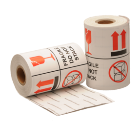 Fragile / Do Not Stack Labels, 101.6mm x 101.6mm, 1000 Labels, Permanent
